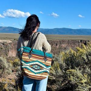 Southwest Boho Purse Handwoven Wool Malibu Purse